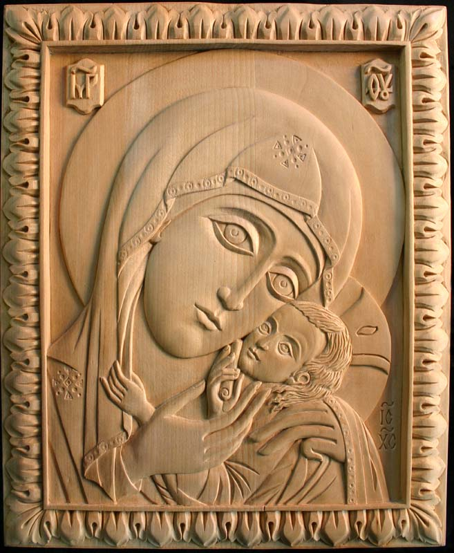 Резная икона из дерева своими руками